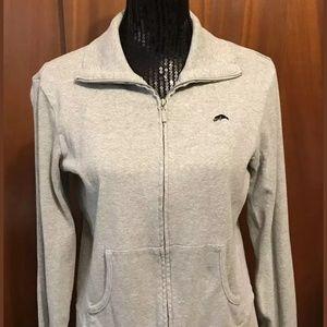 Vintage Roots Gray Heathered Zip Up Sweatshirt L